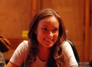 Olivia Wilde- Tron Interview at the studio Digital Domain September 28th 2010