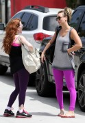 Kaley Cuoco & Amy Davidson - outside a gym in California 05/04/12